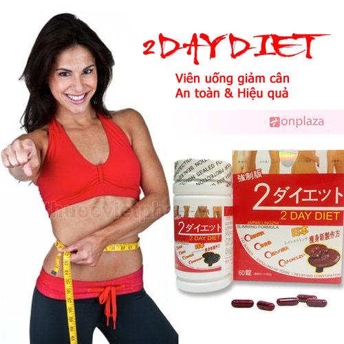 thuốc giảm cân 2 day diet chính hãng nhật bản hộp 60 viên