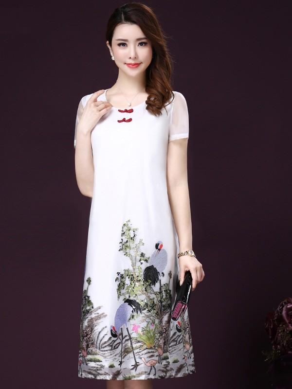 Thời trang váy đầm trung niên đẹp,cao cấp cho mùa hè năm nay