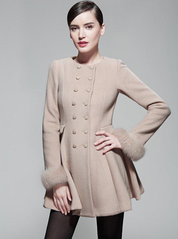 Cách thiết kế áo dạ dáng xòe cổ tròn sang trọng, nữ tính